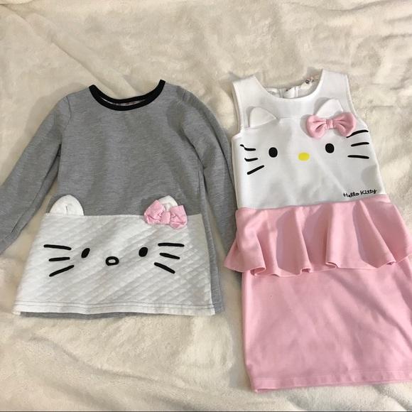 53cd6f295 H&M Dresses   Hello Kitty Bundle Shirt Dress Lot 2 Sanrio Hm   Poshmark